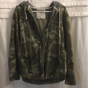 Lightweight camo button up jacket